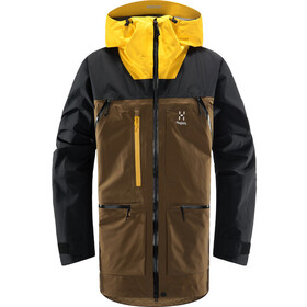 Haglöfs Vassi GTX Pro Jacket Men teak brown/pumpkin yellow